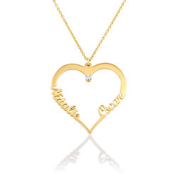 Heart Necklace in Gold Plating with Diamond product photo