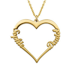 18k Gold Vermeil Heart Necklace product photo