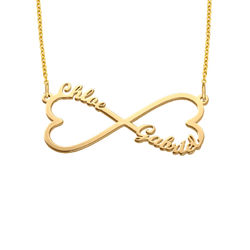 Heart Infinity Name Necklace with Gold Plating product photo