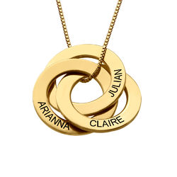 Russian Ring Necklace in Gold Plating product photo