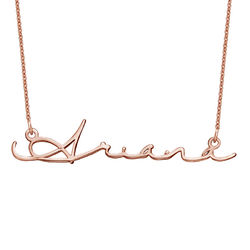 Signature Style Name Necklace in Rose Gold Plated product photo