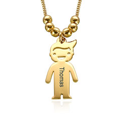 Mother's Necklace with Engraved Children Charms product photo