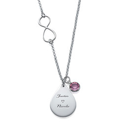 Infinity Necklace with Charms product photo