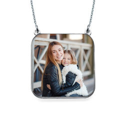 Personalized Photo Necklace - Square Shaped product photo
