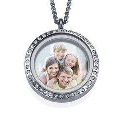 Floating Locket Photo Necklace product photo