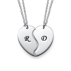 Sterling Silver Breakable Heart Necklaces product photo
