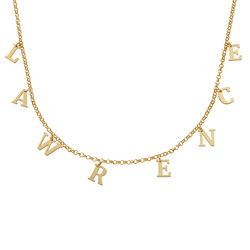 Name Choker in 18K Gold Plating product photo