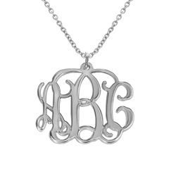 Sterling Silver Monogram Necklace product photo