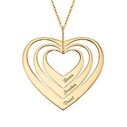Family Hearts necklace in 10K Gold product photo