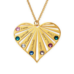 Family Necklace with Birthstones in 18k Gold Vermeil product photo