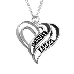 Personalized 3D Heart Necklace in Sterling Silver product photo
