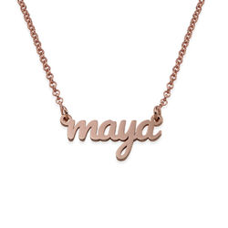 Script Name Necklace with 18K Rose Gold Plating product photo
