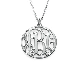 Personalized Circle Monogram Necklace product photo