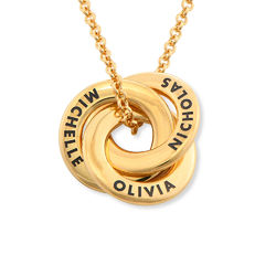 Russian Ring Necklace in Gold Plating - Mini Design product photo