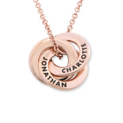 Russian Ring Necklace in Rose Gold Plating - Mini Design product photo