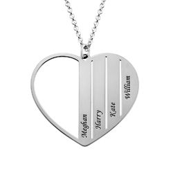 Mom Heart Necklace in Sterling Silver product photo