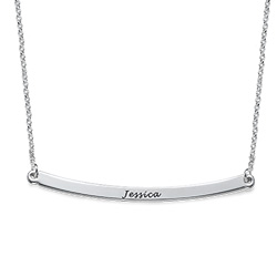 Personalized Curved Bar Necklace product photo