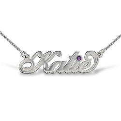 Silver Carrie - Style Swarovski Name Necklace product photo