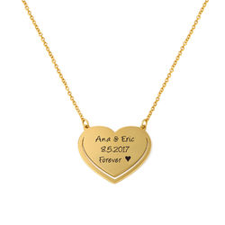 Personalized Heart Necklace in 18k Gold Vermeil product photo