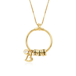 Linda Circle Pendant Necklace in 18k Gold Plating product photo