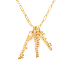 Chain Link Name Necklace in 18K Gold Plating product photo