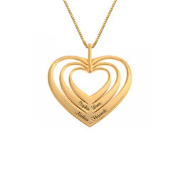 Family Hearts necklace in 18k Gold Vermeil - Mini design product photo