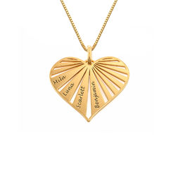 Family Necklace in 18k Gold Plating - Mini design product photo