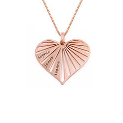 Family Necklace in 18k Rose Gold Plating - Mini design product photo