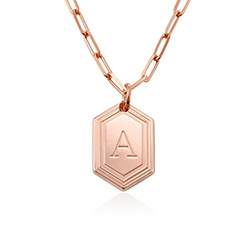 Cupola Link Chain Necklace in 18k Rose Gold Plating product photo