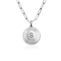 Odeion Initial Necklace in Sterling Silver product photo