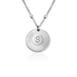 Rayos Initial Necklace in Sterling Silver product photo