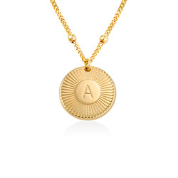 Rayos Initial Necklace in 18K Gold Plating product photo