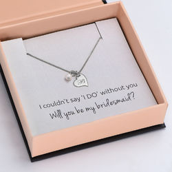 Always The Bridesmaid - Initial Pearl Necklace in Sterling Silver product photo