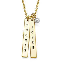 Name Tag Necklace - Gold Plated product photo