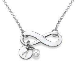 Silver Infinity Initial Necklace product photo