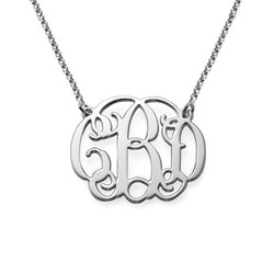Sterling Silver Celebrity Monogrammed Necklace product photo