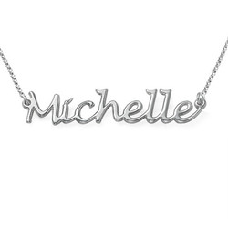 Sterling Silver Handwritten Name Necklace product photo