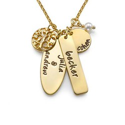 Customized Gold Plated Family Tree Jewelry product photo