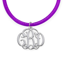 Extra Small Silver Monogram Necklace product photo