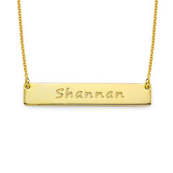 18k Gold Plated Silver Bar Necklace product photo