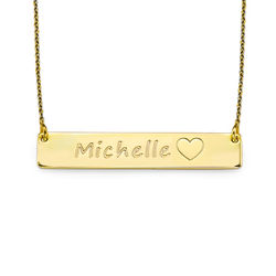 18K Gold Plated Icon Bar Necklace product photo