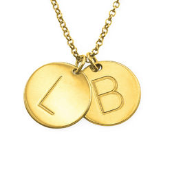 18k Gold Plated Initial Charm Necklace product photo