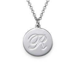Sterling Silver Script Initial Necklace product photo