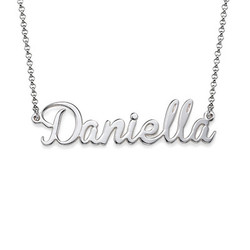 Sterling Silver Name Necklace with Charm product photo
