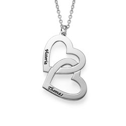 Sterling Silver Heart in Heart Necklace product photo