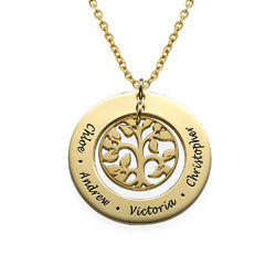 18k Gold Plated Family Tree Necklace product photo