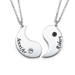 Personalized Yin Yang Necklace for Couples product photo