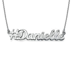 Sterling Silver Hashtag Necklace product photo