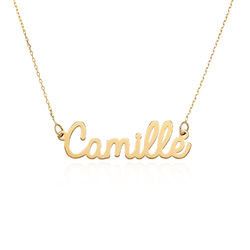Personalized Cursive Name Necklace in 10K Yellow Gold product photo