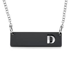 Acrylic Initial Horizontal Bar Necklace product photo